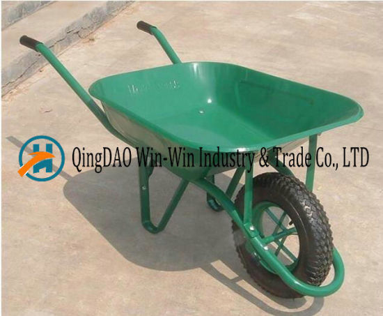 Hand Truck with One Wheel Tool for Garden Barrow Wb6414