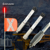 Safety mining whips with aluminum LED lamp