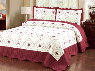 Embrpidery bedspread set