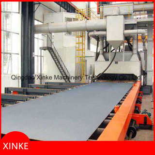 Steel Plate Roller Conveyor Shot Blasting Machine
