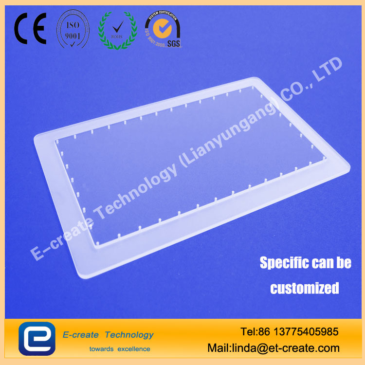 High-precision perforated quartz plate diameter 0.2mm error 20 microns