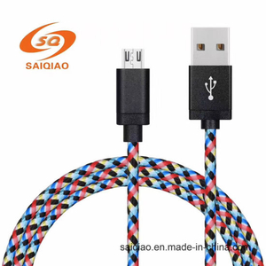 Hot Sell Colorful Flowers Braided Charging Data Cable for Android