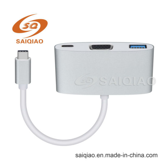Type-C to VGA Adapter with USB