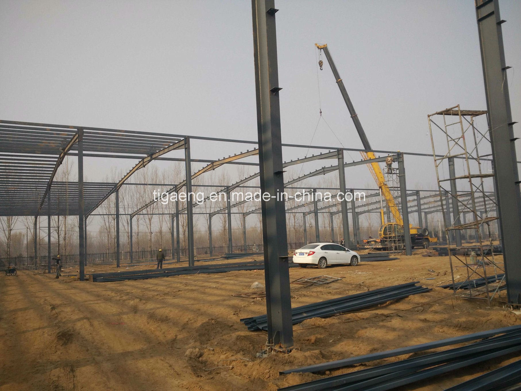 Prefabricated Steel Frame Warehouse/Steel Structure for Zambia in Africa
