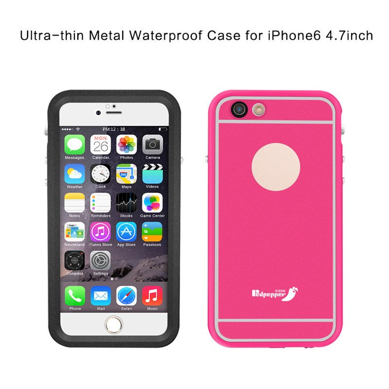 Ultra Thin Metal Waterproof Cell Phone Back Cover Protective Case for iPhone 6 4.7inch (RPTMLPRO-6G)