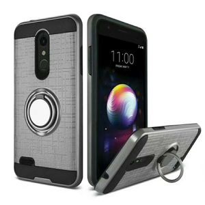 3in1 Mobile Phone Case with 360 Degree Ring Shockproof Phone Case Protective Armor Phone Case for LG