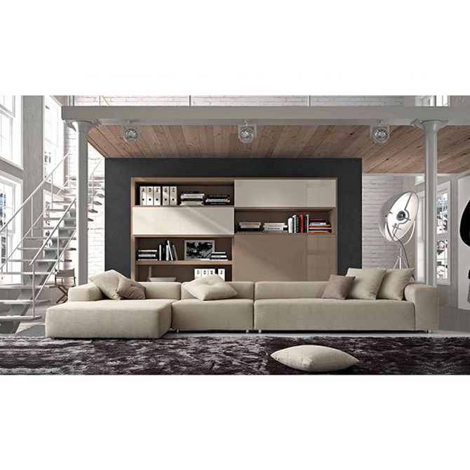 Luxury Upholstery Fabric Sectional Sofa