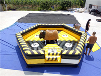 RB91013-1(7x7m) Inflatable Mechanical Bull Game Matrress /Inflatables Mechanical Bull