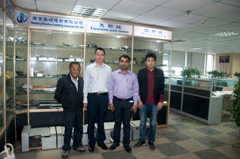 Welcome Foreign customers visit for Expansion joint, movement control joint & entrance mat