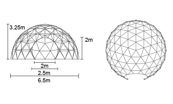 6.5m dome tent