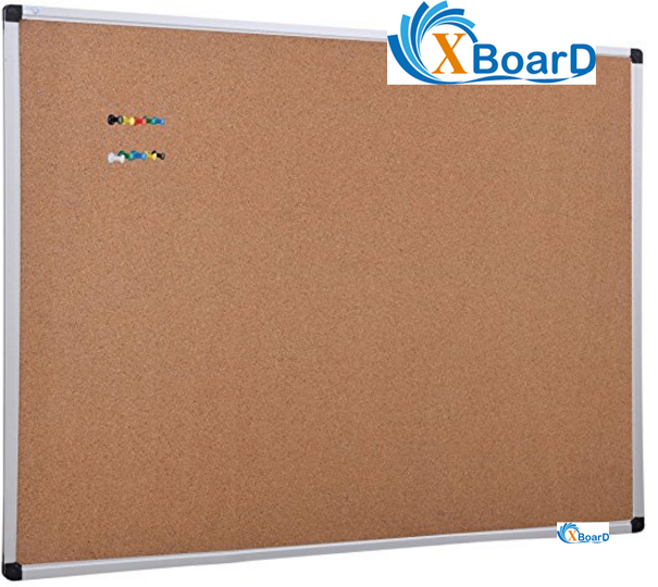 office cork boards. XBoard Aluminum Frame Wall-Mounted 48 X 36 Inch Cork Board Tack With 10 Colorful Push Office Boards