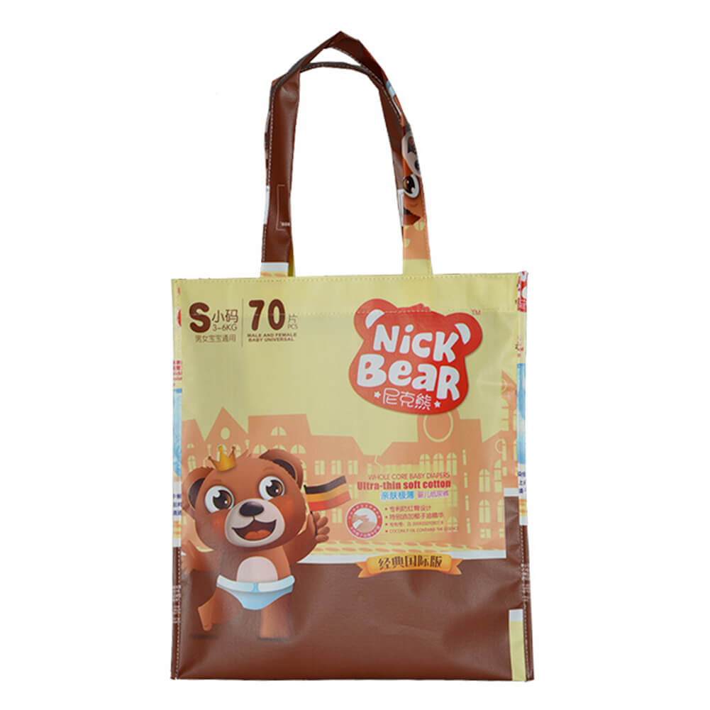 Custom shiny laminated Children's clothing bag