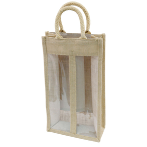 Jute Wine Bags 2 Jars Gift Bags With 2 Widows