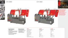 CH SERIES DOUBLE COLUMN SEMI AUTOMATIC BAND SAWS CH280-CH300