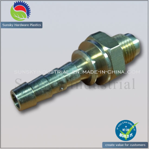 CNC Turned Nipple Connector for Air Oil Pump (ST13138)