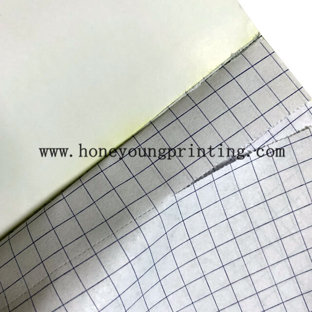 75 sheets bloc notes 5x5mm petits carreaux smooth writing format A4 A5 writing pad