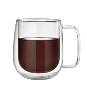 Double wall glass mug,glass coffee mug,borosilicate glass,food grade,lead and BPA free