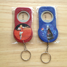Cheap Beverage Promotional Gift Plastic Keychain Bottle Opener