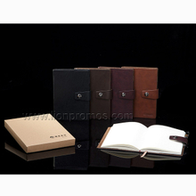 New Year Gift Custom Logo Embossed PU Leather Cover Notebook