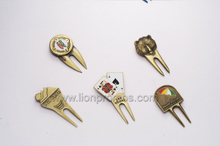 Golf Club Logo Zinc Alloy Metal Golf Divot