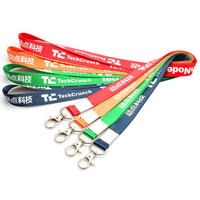 Custom Nylon Lanyards in Different Colors with White Logo Printing