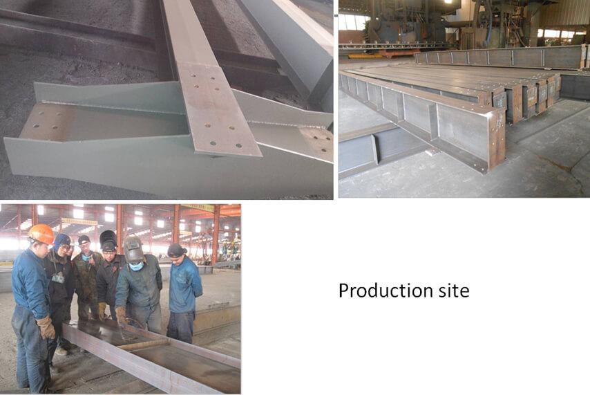 Saudi Arabia steel structure plant project production site