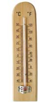 CF308-5 Wooden Thermometer