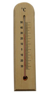 CF308-12 Wooden Thermometer