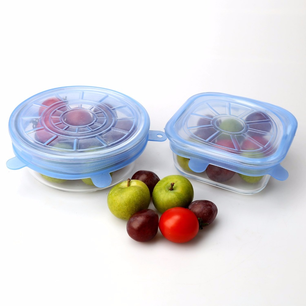6 Piece Pack Silicone Storage Container Lids Food Grade Silicone Stretch Lids for All Containers  sc 1 st  Silicone Bakeware & 6 Piece Pack Silicone Storage Container Lids Food Grade Silicone ...