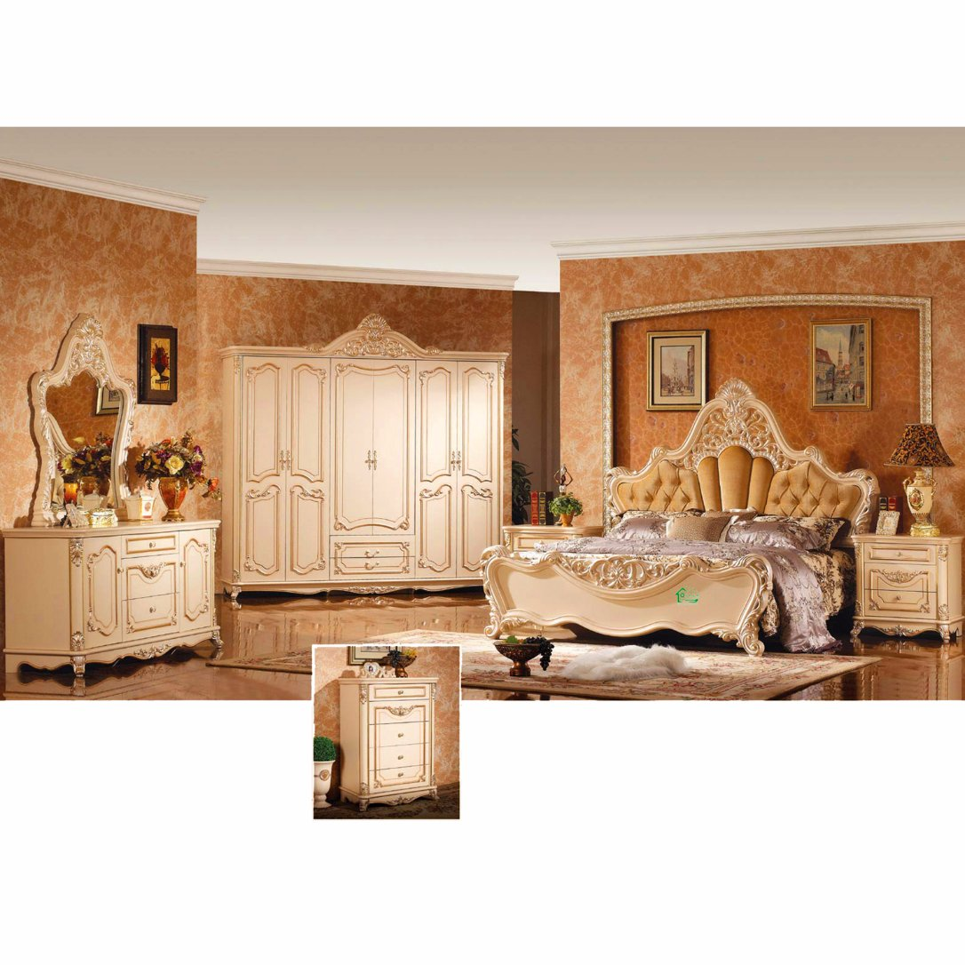 W810 Bedroom Furniture Set with Classic Bed and Wardrobe
