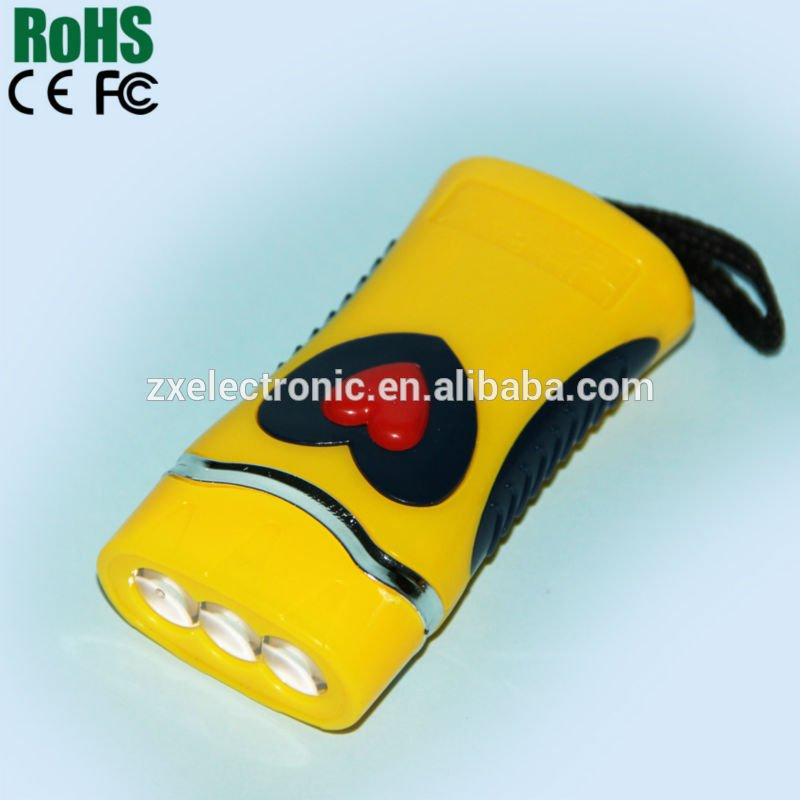 Mini Plastic LED Flashlight Keychain for Promotion