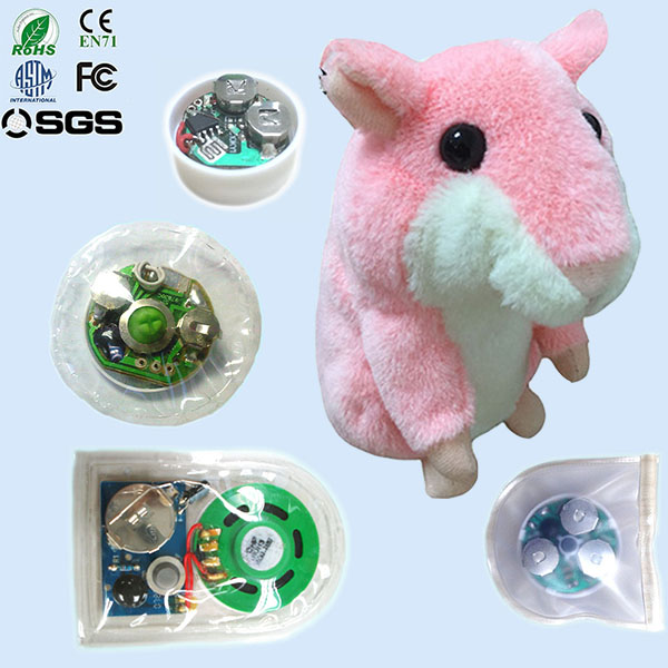 Intelligent voice activated plush toys with voice recorder