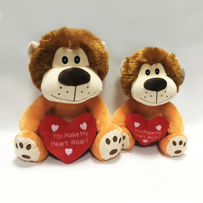 Lovely Plush Lion Stuffed Animal Toys with Heart