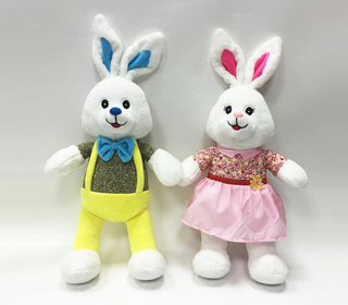 Lovely Couple Rabbit Plush Stuffed Toys for Wedding Gifts