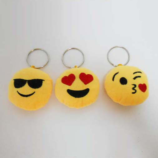 Custom Soft Plush Emoji Toy Keychain