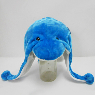 Soft Plush Toy Dolphin Winter Hat for Kids