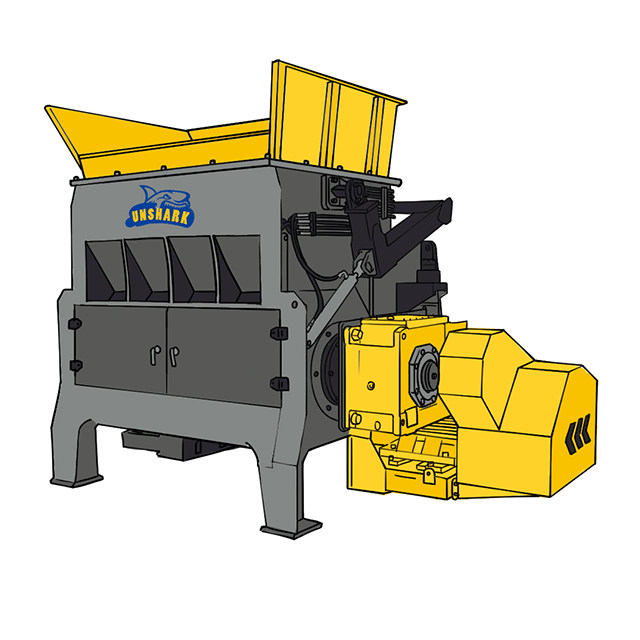 N series single shaft shredder