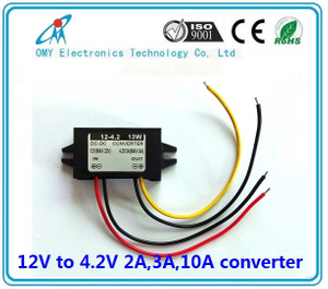 12V step down 4.2V 2A/3A/6A/10A ABS Plastic IP65 waterproof dc dc converter power converter