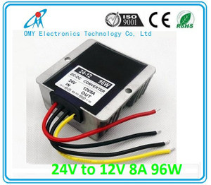 24V boost to 12V 8~30A step down Aluminum alloy shell IP65 waterproof dc dc converter power converter