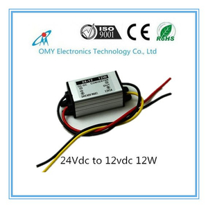 24V drop to 12V 1A/2A/3A/5A step down Aluminum alloy shell IP65 waterproof dc dc converter power converter
