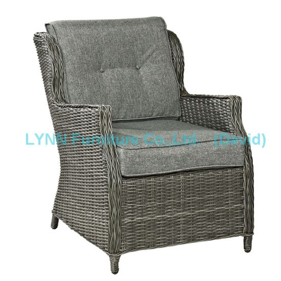 Outdoor Hotel Armchair Round Rattan Sofa Chair