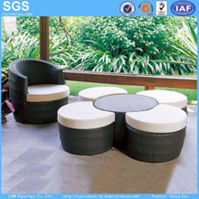 Leisure Furniture PE Rattan Furniture Round Sofa Round Ottoman