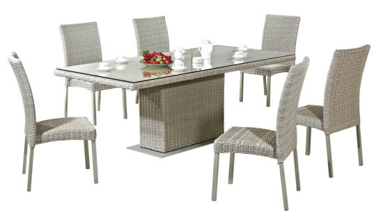 Home Furniture Dining Table Dining Chair Garden/Resin Wicker Furniture Outdoor Table and Chair