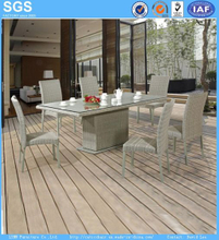 Garden Set Outdoor Wicker Poly Rattan Table and Chairs