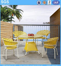 Outdoor Mix Color Poly Rattan Table and Chairs Garden Set
