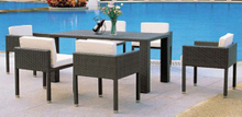 Modern Design Garden Furniture Outdoor Wicker Table and Chairs