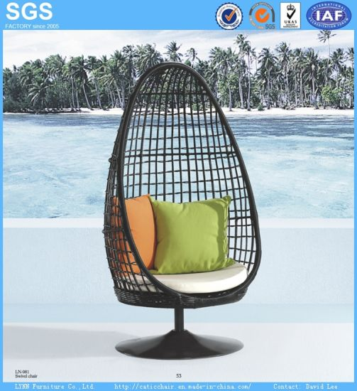Patio Furniture Round Wicker Rattan Egg Chair