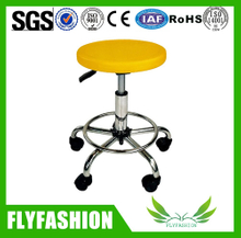Adjustable Rotary yellow plastic Computer chair(PC-34)
