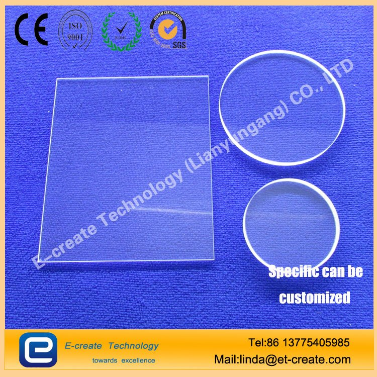 Transparent optical glass as the film UV quartz glass coated quartz film spot can be set