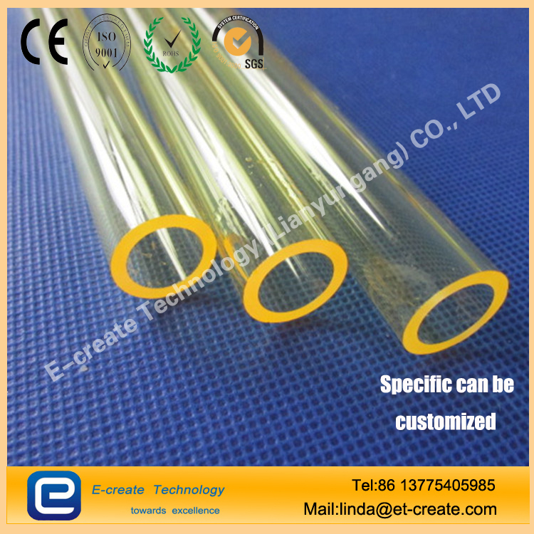 Yellow quartz tube for laser emitter
